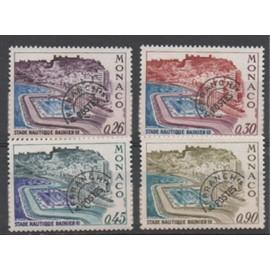 """Monaco 1971: Série de 4 timbres préoblitérés N° 30, 31, 32, 33 type """"Stade nautique Rainier III"""
