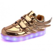 Chaussures Led Enfant Lumineuses Sneakers Led Avec Ailes � Scratch