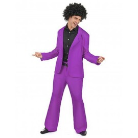 D�guisement Disco Violet Adulte, Taille Xl