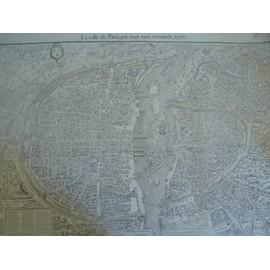 Facsimil� De La Carte De Paris, 1550