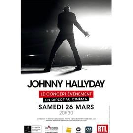 Johnny Hallyday, Le Concert Événement En Direct Au Cinéma - Affiche Originale De Cinéma - Format 120x160 Cm - Année 2016