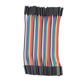 40pcs 10cm 2,54 Femelle � Femelle Dupont Fil Jumper Cable 1p-1p Pour Arduino