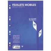 Clairefontaine Lot De 5 Pqts 50 Feuillets Mobiles S/Film 21x29,7 100p Q.5x5 80g