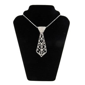 Charm Fashion Glitter Strass Cristal Collier Cravate Pour Prom Party Bal