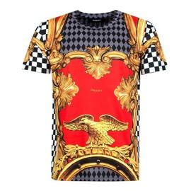 T-Shirt Unkut Eagle Rouge Polyester M Rouge