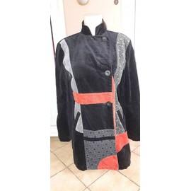 Manteau Desigual Taille 38 Multicolore, Noir, Rouge Et Gris