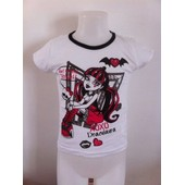 T-Shirt Manches Courtes Monster High Draculaura * Neuf L'unit� * 100% Coton * Fille