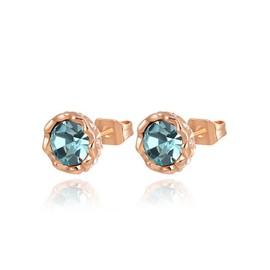 Plus R�cent Populaire Exquis Aaa Zircon Pierres Rose Boucles D'oreilles Plaqu�s Or Pour Femme Valentin Cadeau Fashion Jewelrys