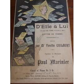 d'elle à lui, ce qu'une femme n'oublie pas Yvette Guilbert