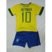 Maillot Bresil Neymar Short 2/3/4/6/8/10/12/14 Ans Barcelone