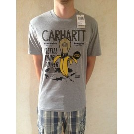 T-Shirt Carhartt Coton L Gris Avec Motif Banane