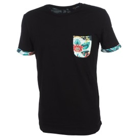 Tee Shirt Manches Courtes Teddy Smith Thaw Noir Mc Tee Noir 77188