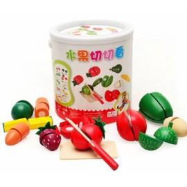 Jouet �ducatif, En Bois Couper Les Fruits L�gumes Equipe De Baril Le Jouets En Cuisine Pour Les Enfants