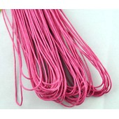 Lot De 10 M�tres Cordon Coton Cir� Fuchsia (1mm)