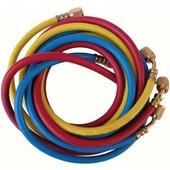 Jeu De 3 Flexibles R410a Flare Ff1/4 X F5/16 (Bleu, Rouge) Et Flare Ff 1/4 (Jaune) Avec Vanne - Galaxair : Sa-Ct360-410