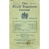 The Royal Engineers Journal, Vol. Lviii, Sept. 1944 (Contents: The Sme Comes To Chatham, F.S. Garwood. Vive L'entente Cordiale, H.B. Harrison. The Sudan Defence Forces Goes To War, A.J. ... de COLLECTIF