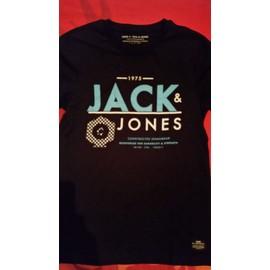 T-Shirt Homme Noir Core By Jack & Jones Taille M 100% Coton