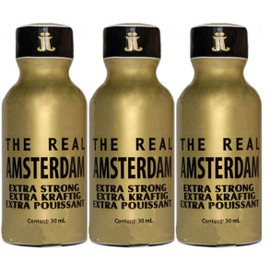 Poppers Pentyle Real Amsterdam 30ml X3 Push Poppers