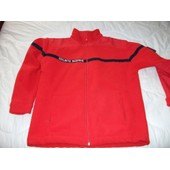 Pull Pompier De France Acrylique M Rouge