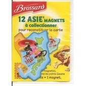 Japon - Cor�� Du Sud - Asie'magnet Brossard - Carte D'asie