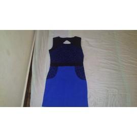 Robe De Soir�e Mim Sans Manche Polyester 36 Bleu