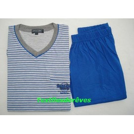 - Pyjama Homme Courtes Manches Courtes Jambes Jersey Outfitter 100% Coton - S � Xxl