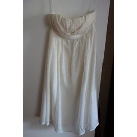 Robe De Soir�e 1.2.3 Robe Bustier Soie 36 Blanc