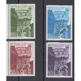 """Monaco 1976: Première série, N° 38, 39, 40 et 41 de timbres préoblitérés type """"Tour de l"""