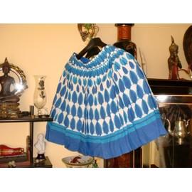 Jupe C&a Coton 42 Bleu