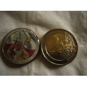 2 Euro Couleur Vatican En Emaille Tres Rare