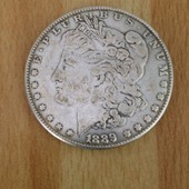 Dollar En Argent 1889 Cc