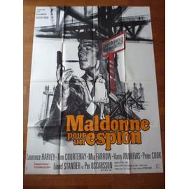 Maldonne Pour Un Espion De Anthony Mann Et Laurence Harvey Avec Laurence Harvey, Tom Courtenay... - Affiche Originale De Film Sign�e Landi Format 120 X 160 Cm