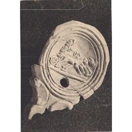 C.Postale : ART ROMAIN - lampe à huile romaine - Aurige sur un char fouettant ses chevaux (Musée APT)