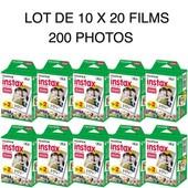 Fujifilm Instax Mini Film - Lot de 10 x 20 films pour un total de 200 photos