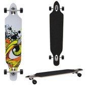 Longboard Von [Pro.Tec] (104 X 23 X 9.5 Cm) - Abec 7-Kugellager - Skateboard / Dropped Through/ Freeride Board / Cruising Board / Retro Board - Farbe W�hlbar
