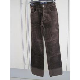 Pantalon T. 32 Jennyfer Velours Xxs Marron