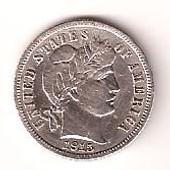 1 Dime Usa 1915 En Argent. Tr�s Belle Pi�ce.