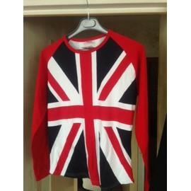 Union Jack / Drapeau Anglais T-Shirt Longues Manchesl Multicolore