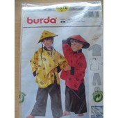 Patron Burda N� 4370 Yin & Yang Costumes Chinois Gar�on Et Fille