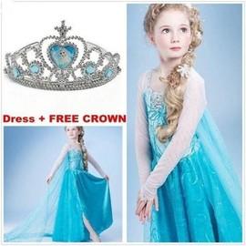 Robe D�guisement Costume La Reine Des Neiges Frozen Elsa Anna Enfant Fille Neuf