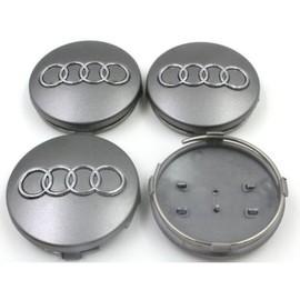 Occasion, 4 Caches Moyeux - Centres De Roues - Cabochons - Audi - 60mm -A3-A4-A5