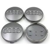 4 Caches Moyeux - Centres De Roues - Cabochons - Audi - 60mm -A3-A4-A5