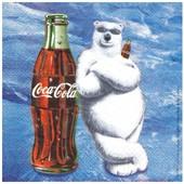 Serviette Coca Cola Ours Bouteille