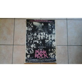 Affiche poster the punk rock movie sex pistols, the clash, the jam, the slits, johnny thunders, siouxsie and the banshees