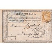 Carte Postale De Correspondance De 1876