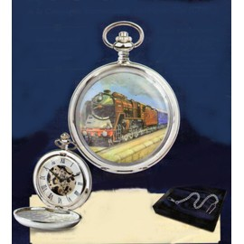 Montre Gousset Mecanique Le Train Bleu , De La Compagnie Internationale Des Wagons Lits