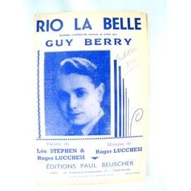 Rio la belle - partition - Rumba - G. Berry - 1939