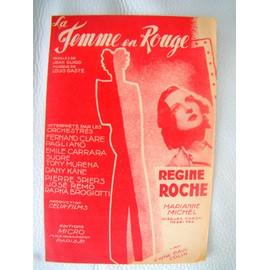 La Femme en rouge - partition - Regine Roche - ed = Micro