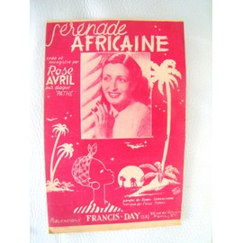 Serenade Africaine - partition - Rose Avril - ED = Francis day