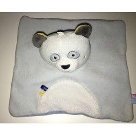 Doudou Panda Ours Bleu Ciel Gris Plat Sucre D'orge Num�ro 1 Peluche B�b� Enfant Jouet Ourson